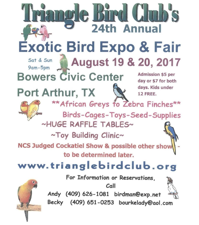 The 2017 Bird Fair is Getting Closer