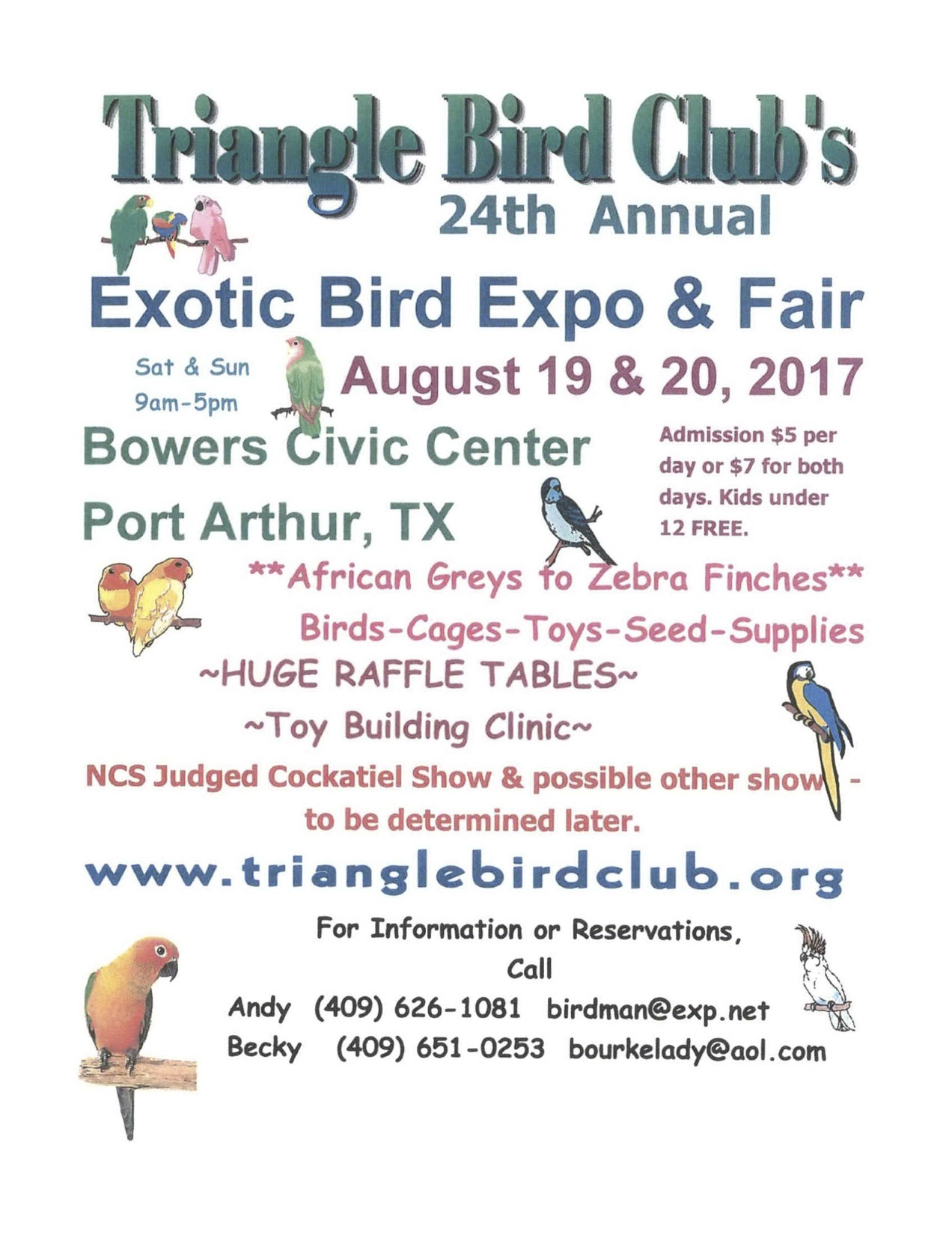 The 2017 Bird Fair is Getting Closer